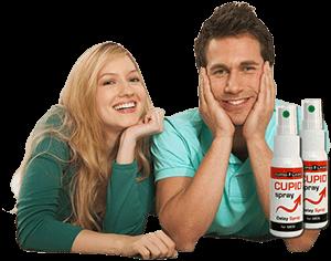 coppia davvero impressionante, super sexy sorriso compiaciuto con il mantenimento di spray Kupid Labs