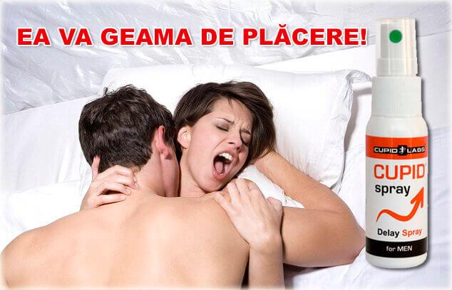 Cuplu care geme de plăcere în timpul sexului datorită spray-ului nostru anti ejaculare precoce.