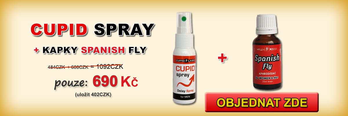 Odstrašující Spray pro muže a zánětlivých kapek Spanish Fly + 2 kondomy zdarma. Zobrazí cenu a typ produktů v krásné žluté banner.